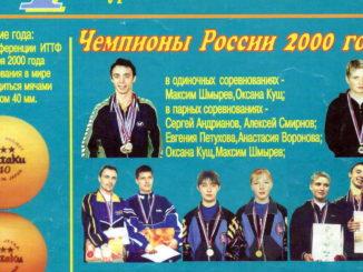 2000 год: Чемпионат России