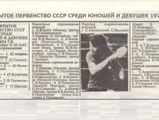 1991 год: Первенство СССР 1974г.р.