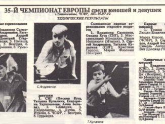 1992 год: Юношеский Чемпионат Европы