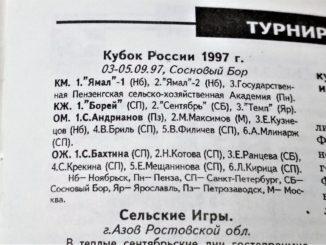 1997 год: Кубок России