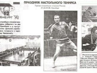 1998 год: ТОП12 мужчины