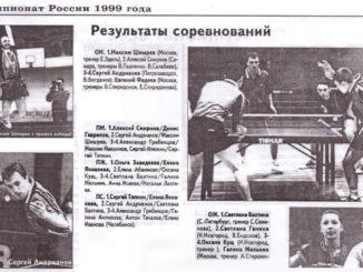 1999 год: Чемпионат России