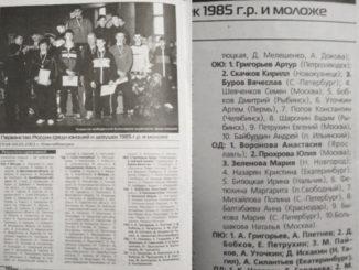 2003 год: Первенство России юниоры 1985г.р.
