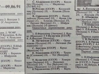 1991 год: Открытое первенство Польши