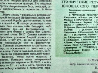 1991 год: Первенство СССР юниоры