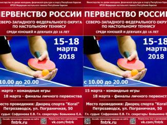 2018 год: Первенство СЗФО кадеты 2003г.р.